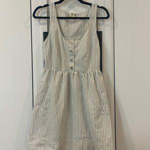 Striped white summer dress